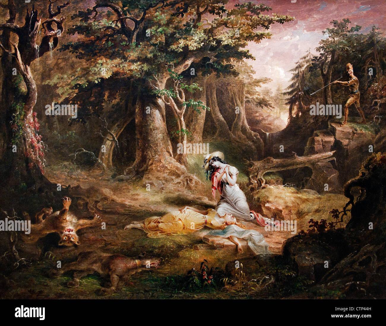 Sauvetage du Leatherstocking 1832 John Quidor American United States of America Banque D'Images
