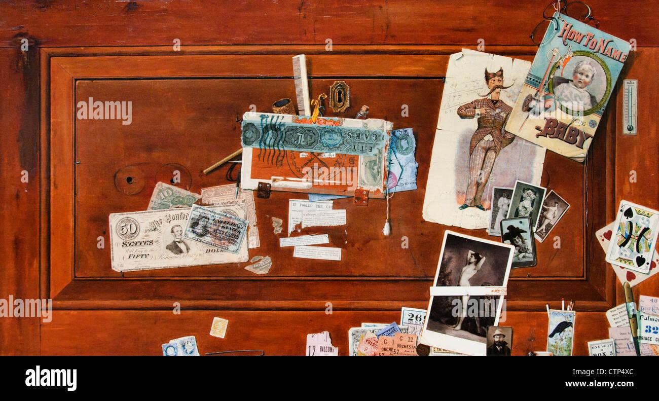 Un tiroir de baccalauréat 1890 John Haberle American United States of America Photo Stock