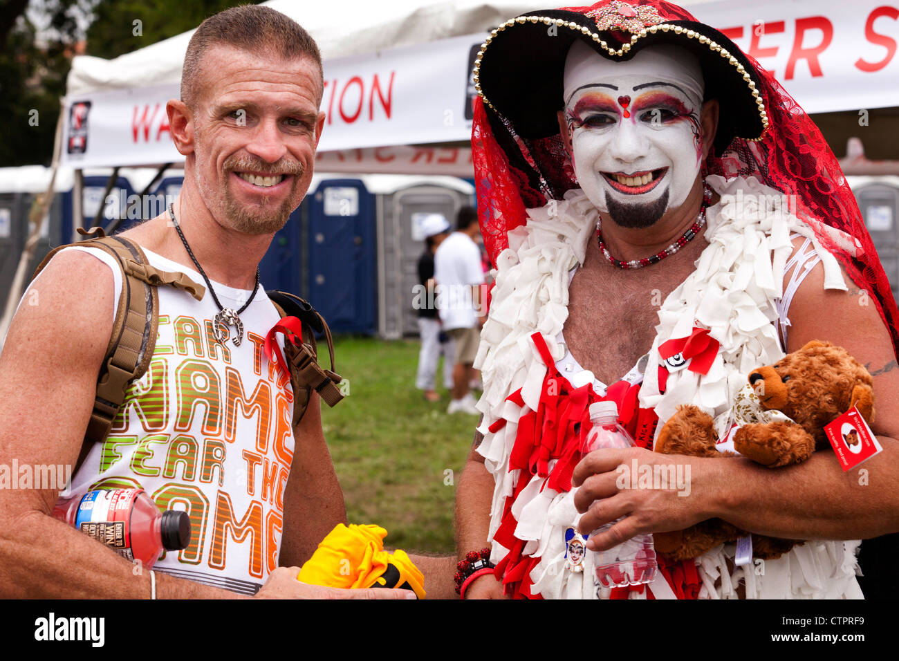 Homme habillé en drag - USA Photo Stock