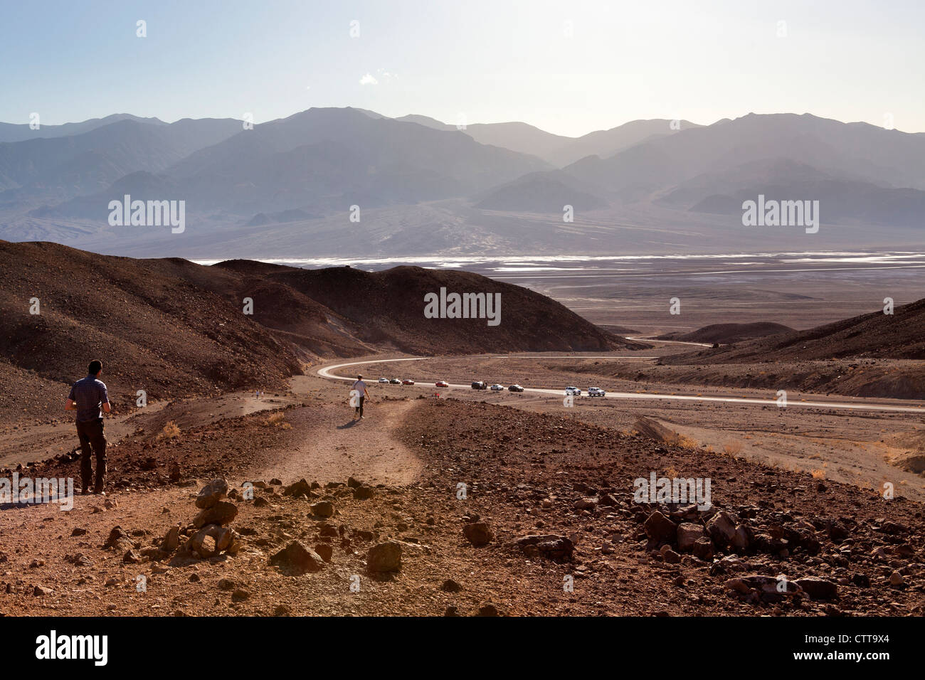 Palette d'artistes, la Death Valley, Californie Photo Stock