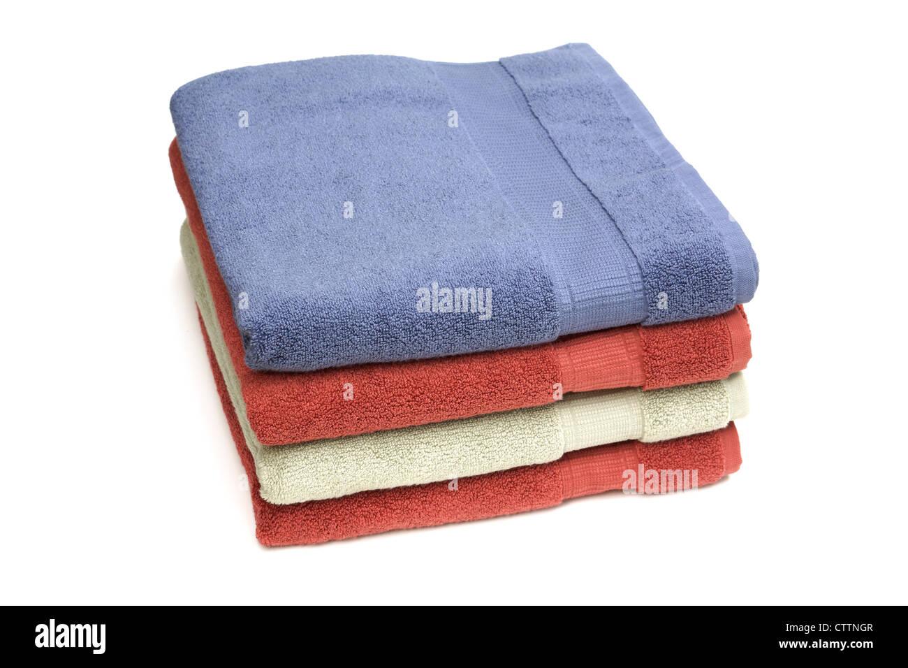 Serviettes de bain Banque D'Images