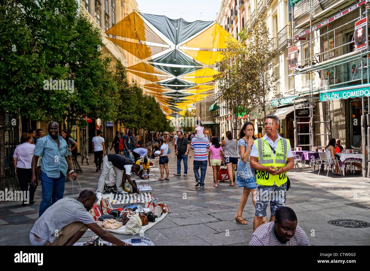 Centro est le quartier central de la ville de Madrid, Espagne Photo Stock