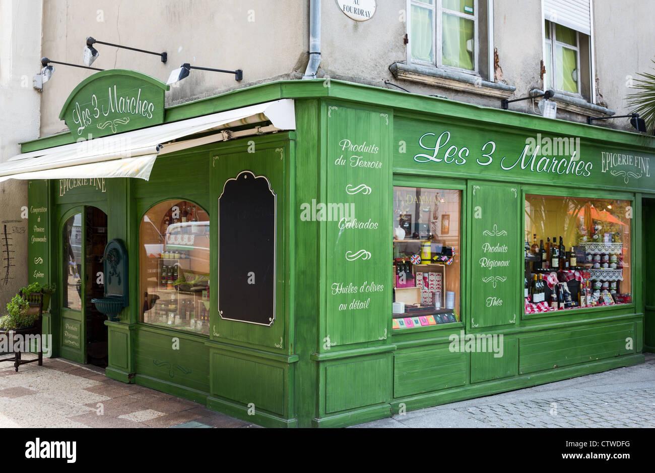France Normandie Cherbourg Un Magasin Dans Le Centre Ville Photo Stock