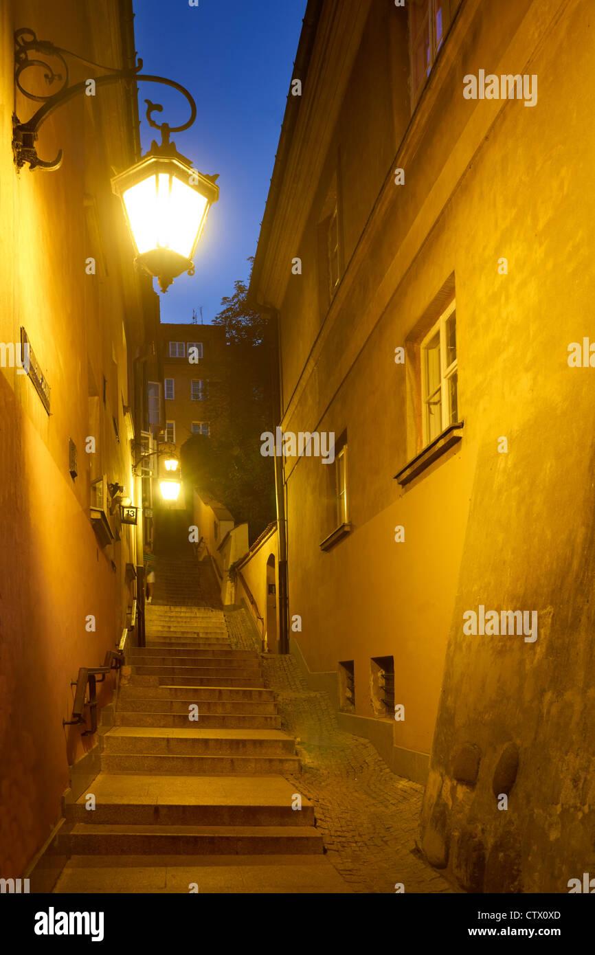 La vieille ville de Varsovie, Kamienne Schodki Street, la Pologne, l'Unesco Photo Stock