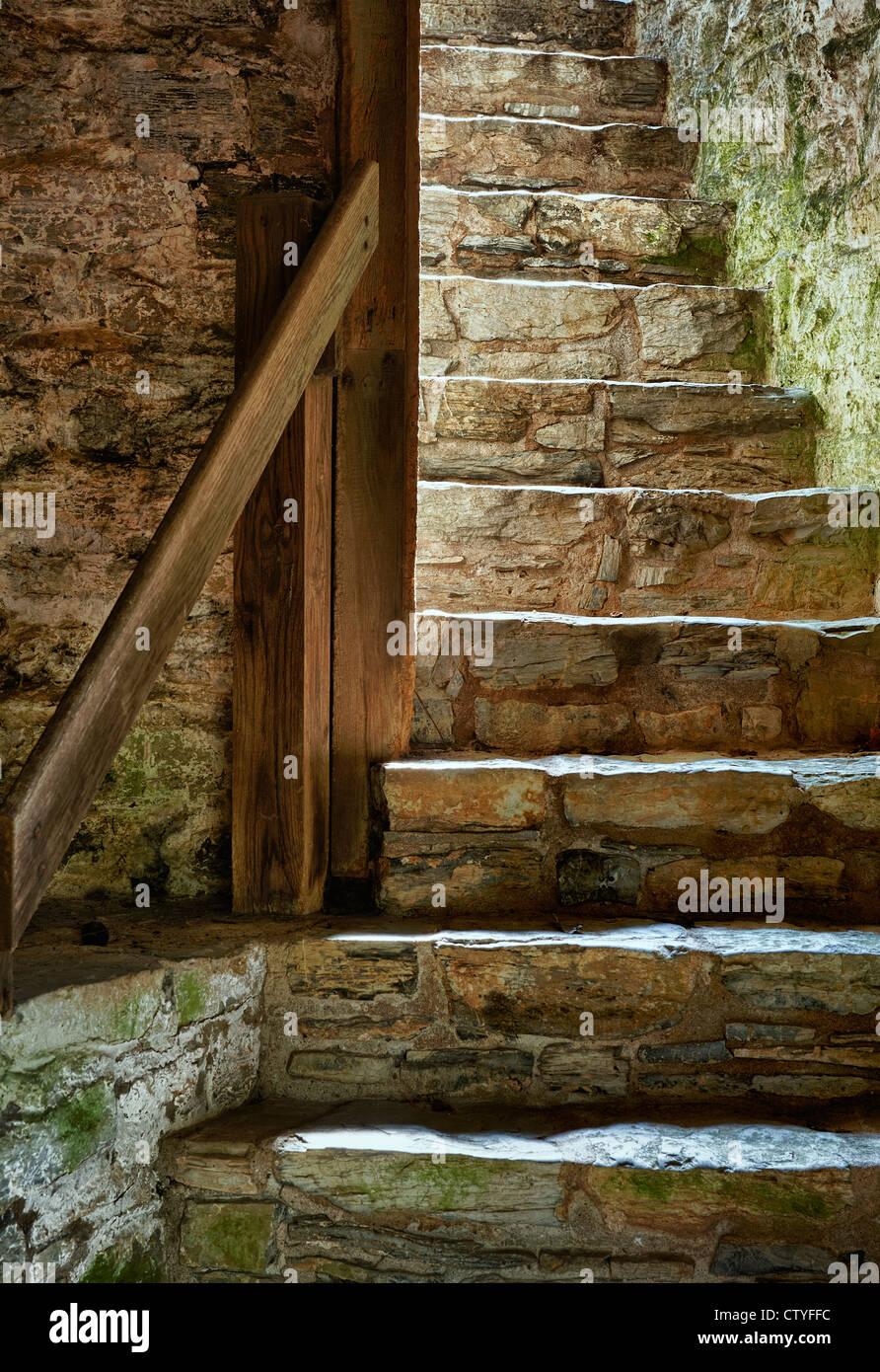 Escaliers de pierre. Photo Stock
