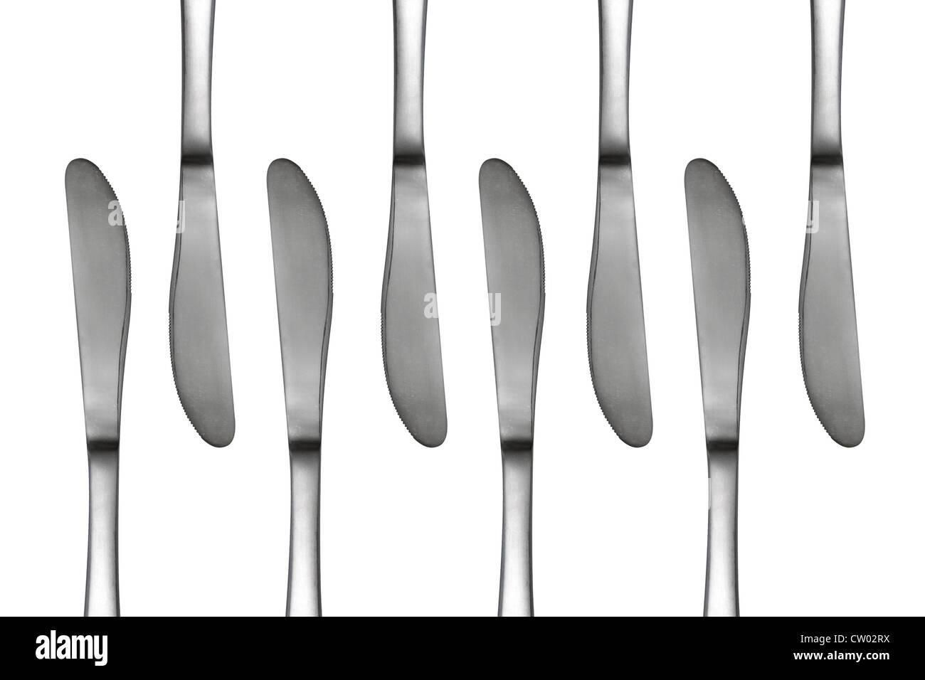 Couteaux en un motif abstrait Photo Stock