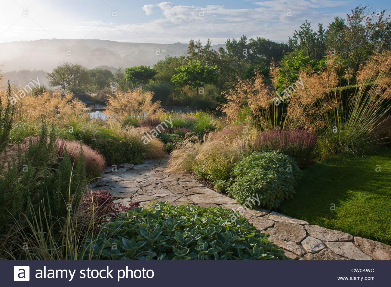 Chemin de pierre jardin contemporain design designer Julie sans ...