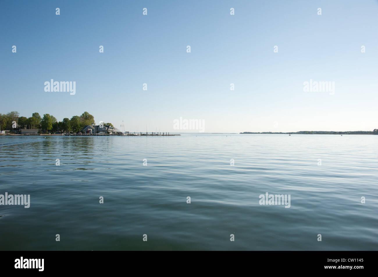 Horizon et intérieure menant à la baie de Chesapeake Photo Stock