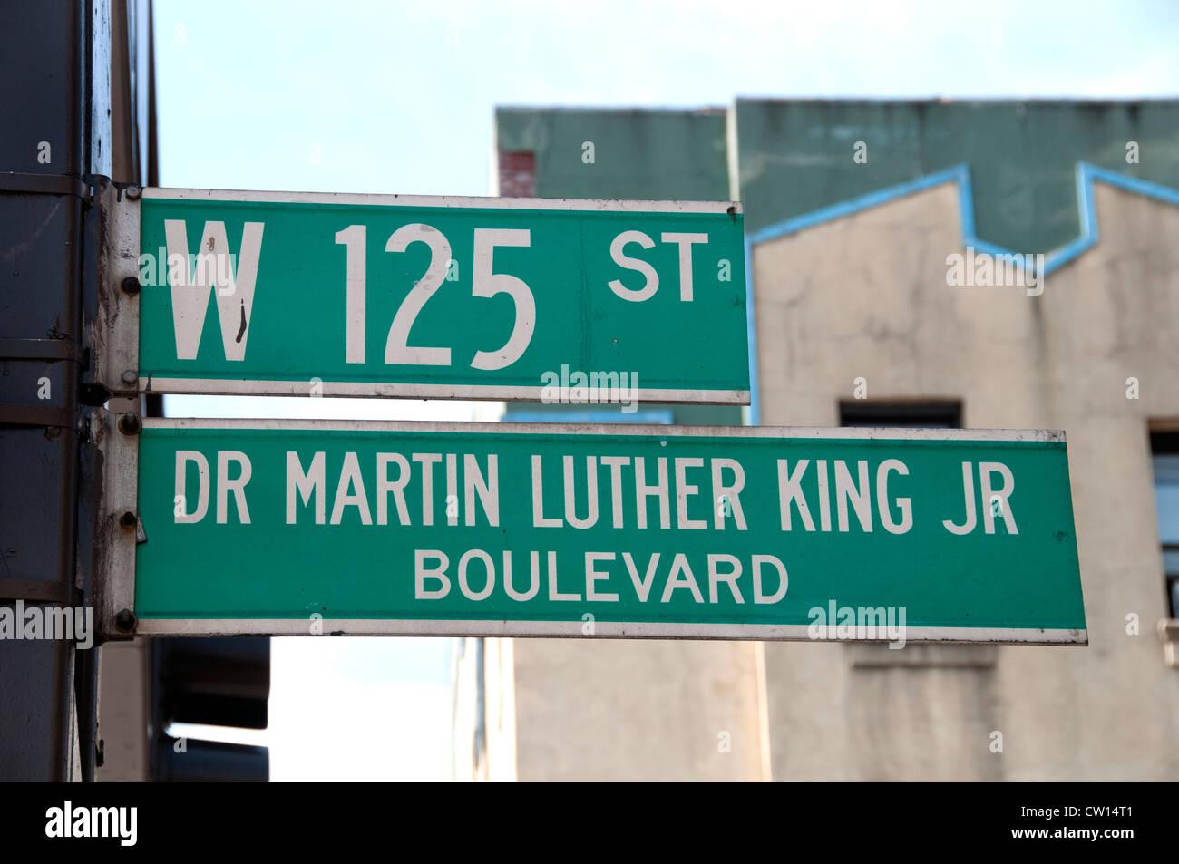 Dr Martin Luther King Jr Boulevard Harlem New York Manhattan United States Banque D'Images