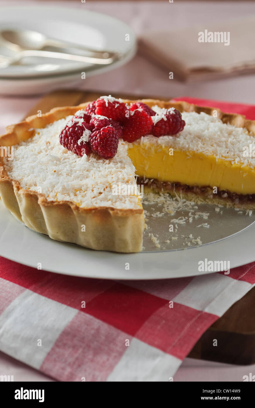 La nourriture traditionnelle Tarte Manchester UK Photo Stock