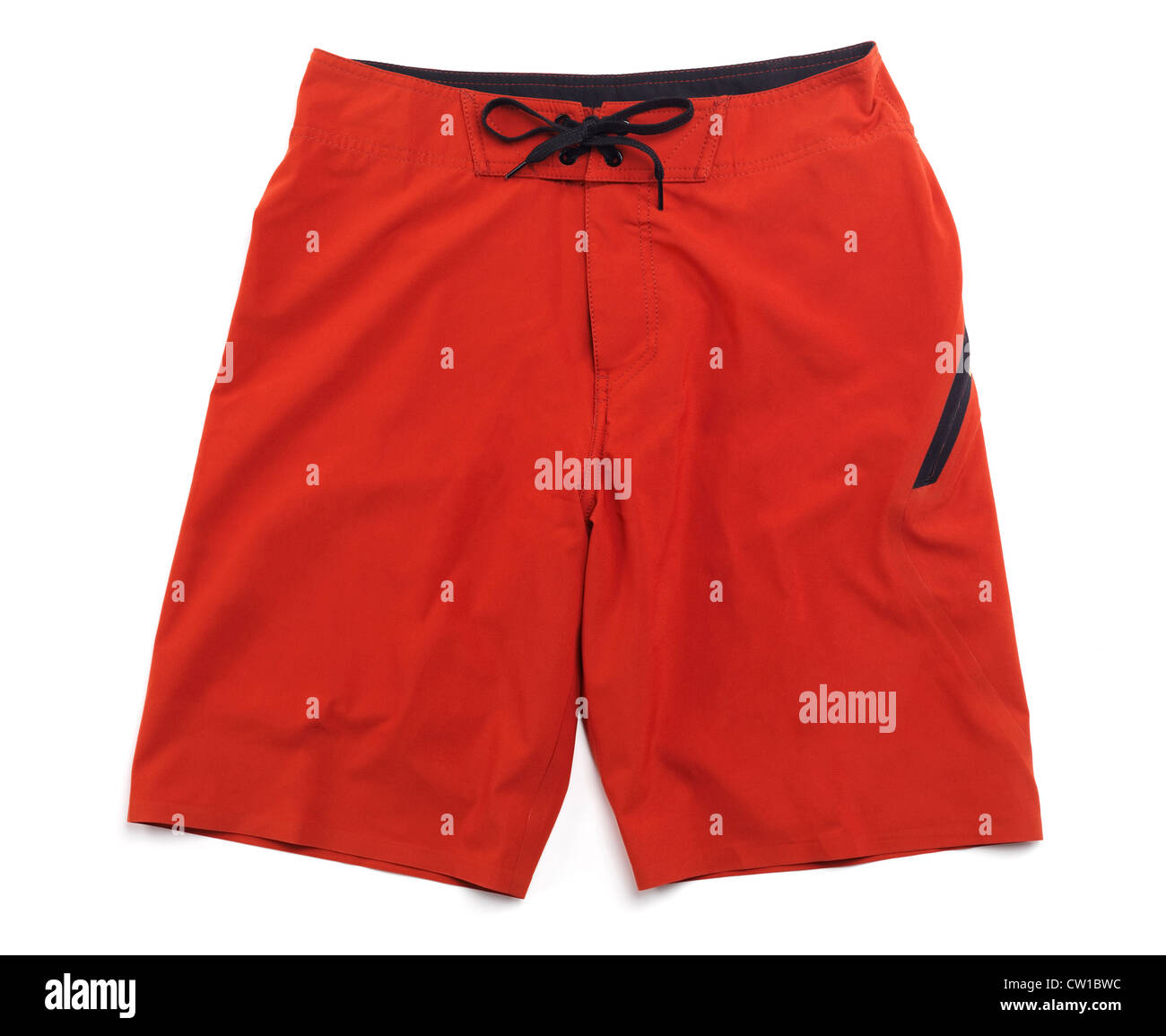 Les slips, shorts rouge isolé sur fond blanc Photo Stock