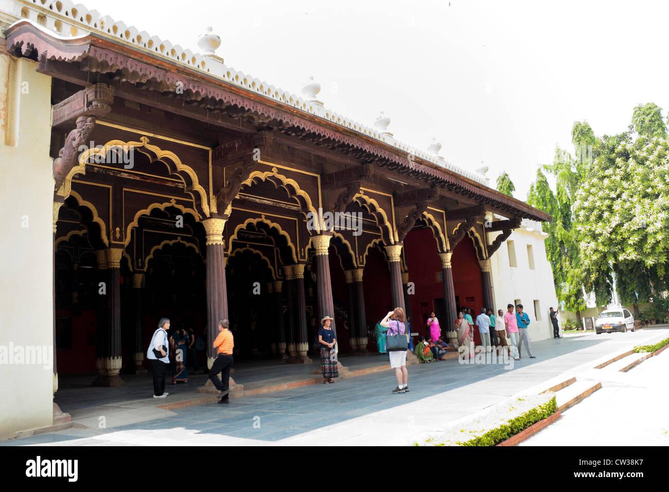 Tipu Sultan's,, été, Palace, Bangalore, Karnataka, Inde Banque D'Images