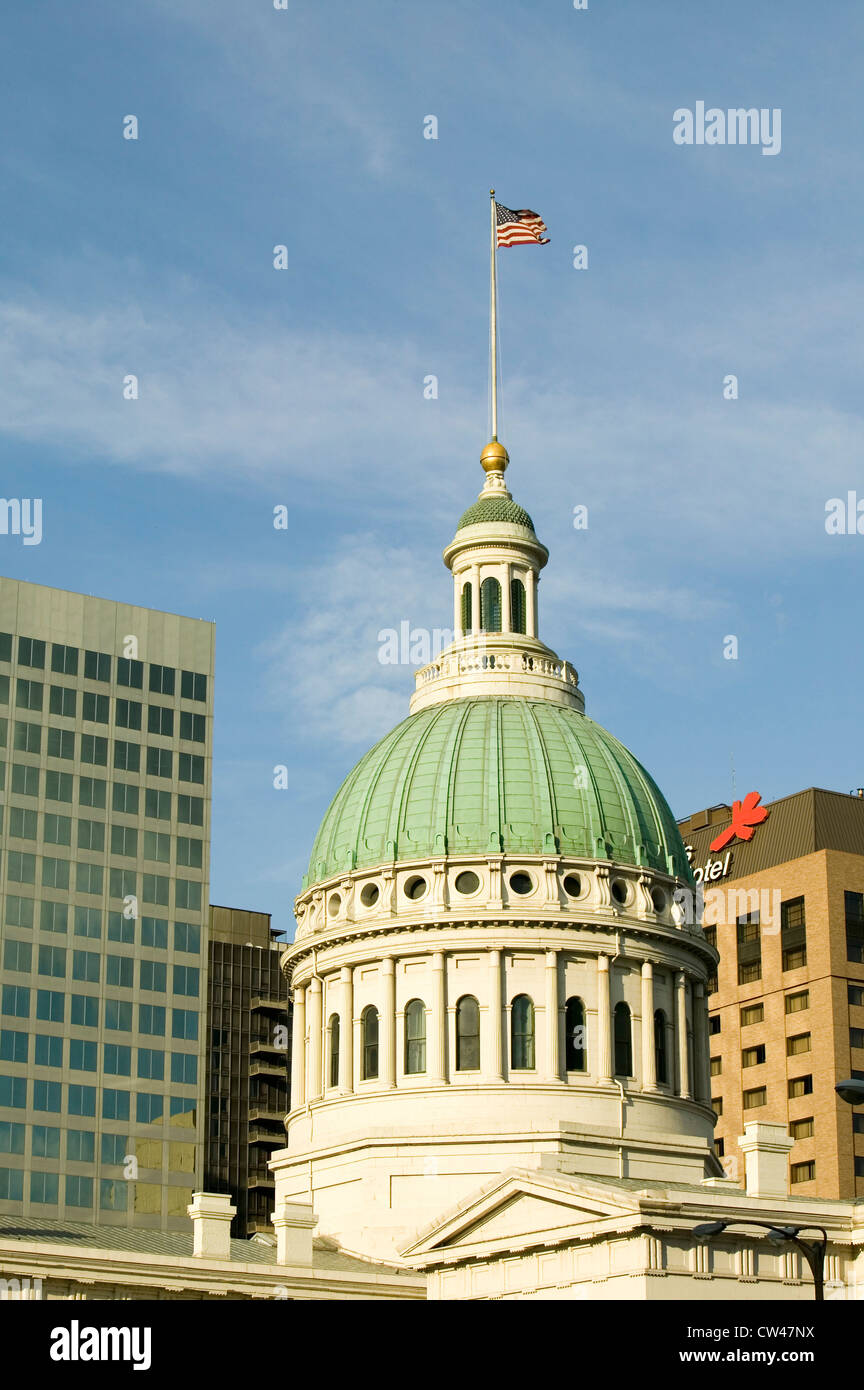 Dome Saint Louis Ancien palais historique de l'architecture de style fédéral construit en 1826 la décision de l'esclave Banque D'Images