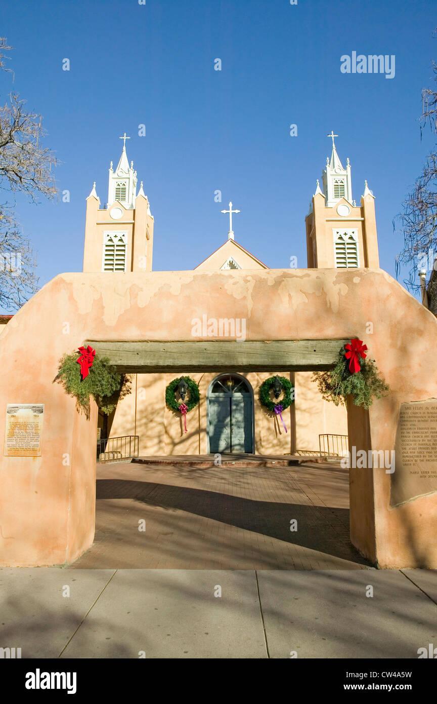 San Felipe de Neri Eglise catholique est sur les registres de l'état des lieux historiques est situé dans la vieille Banque D'Images