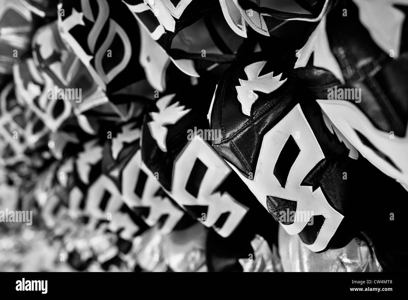Les masques de catch Lucha Libre, inspiré par ceux portés par les lutteurs professionnels, exposés Photo Stock