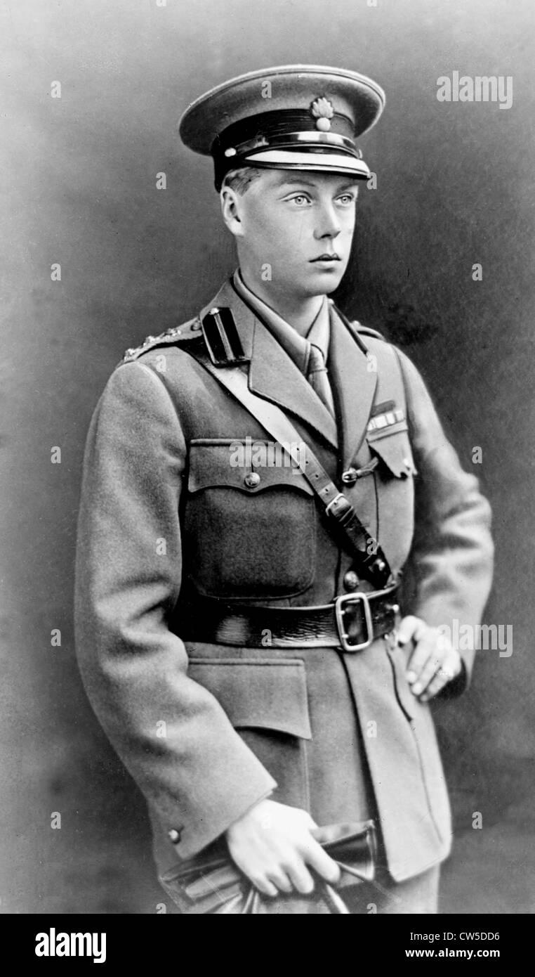 Portrait d'Edward, prince de Galles. (Qui deviendra Édouard VIII) Photo Stock