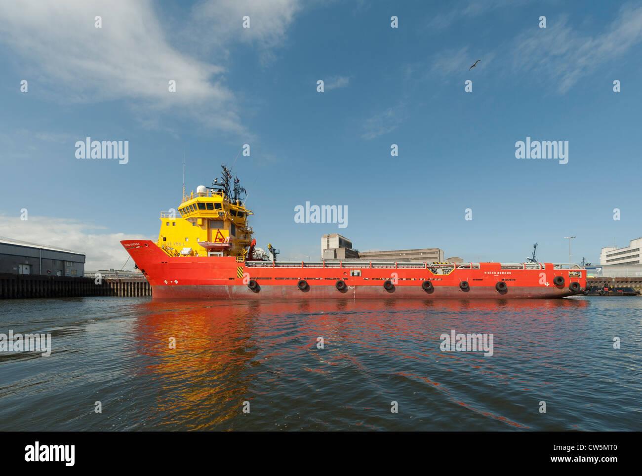 Le Viking Hereus un navire de soutien offshore à Aberdeen Harbour Photo Stock