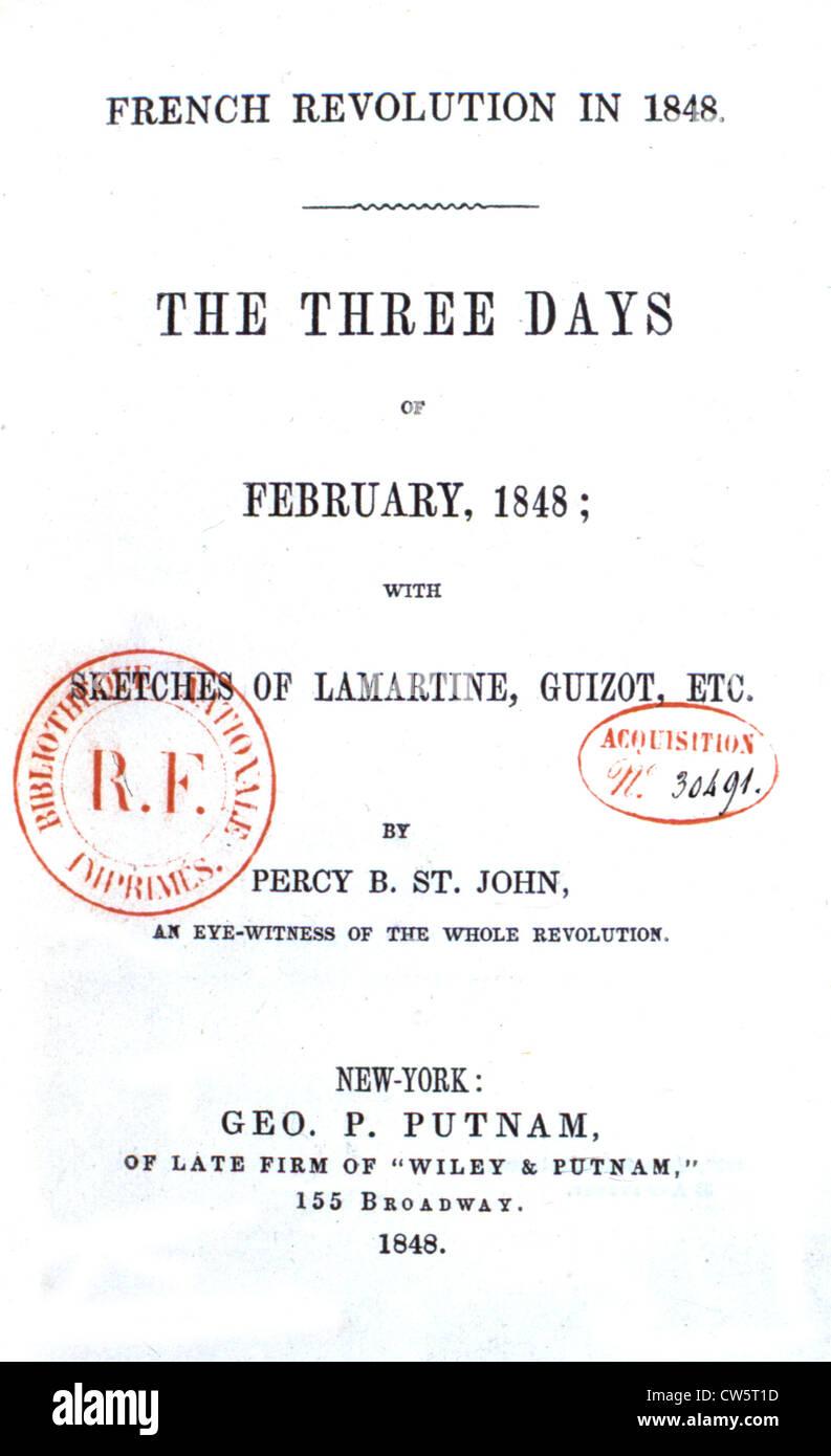 Page De Garde D Un Livre Sur La Révolution Française 1848