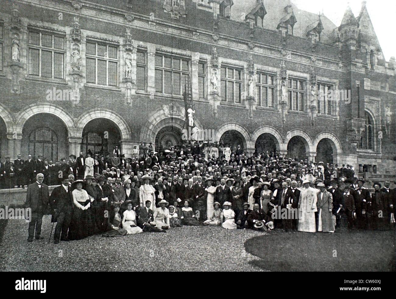20e Congrès de la Paix à La Haye (1913) Photo Stock