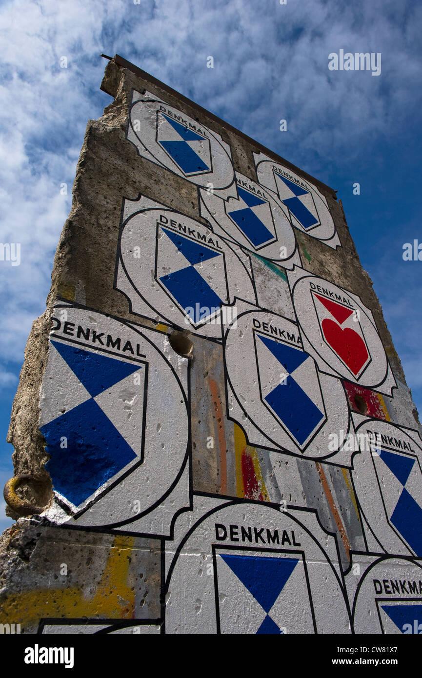 Une section du mur de Berlin Photo Stock