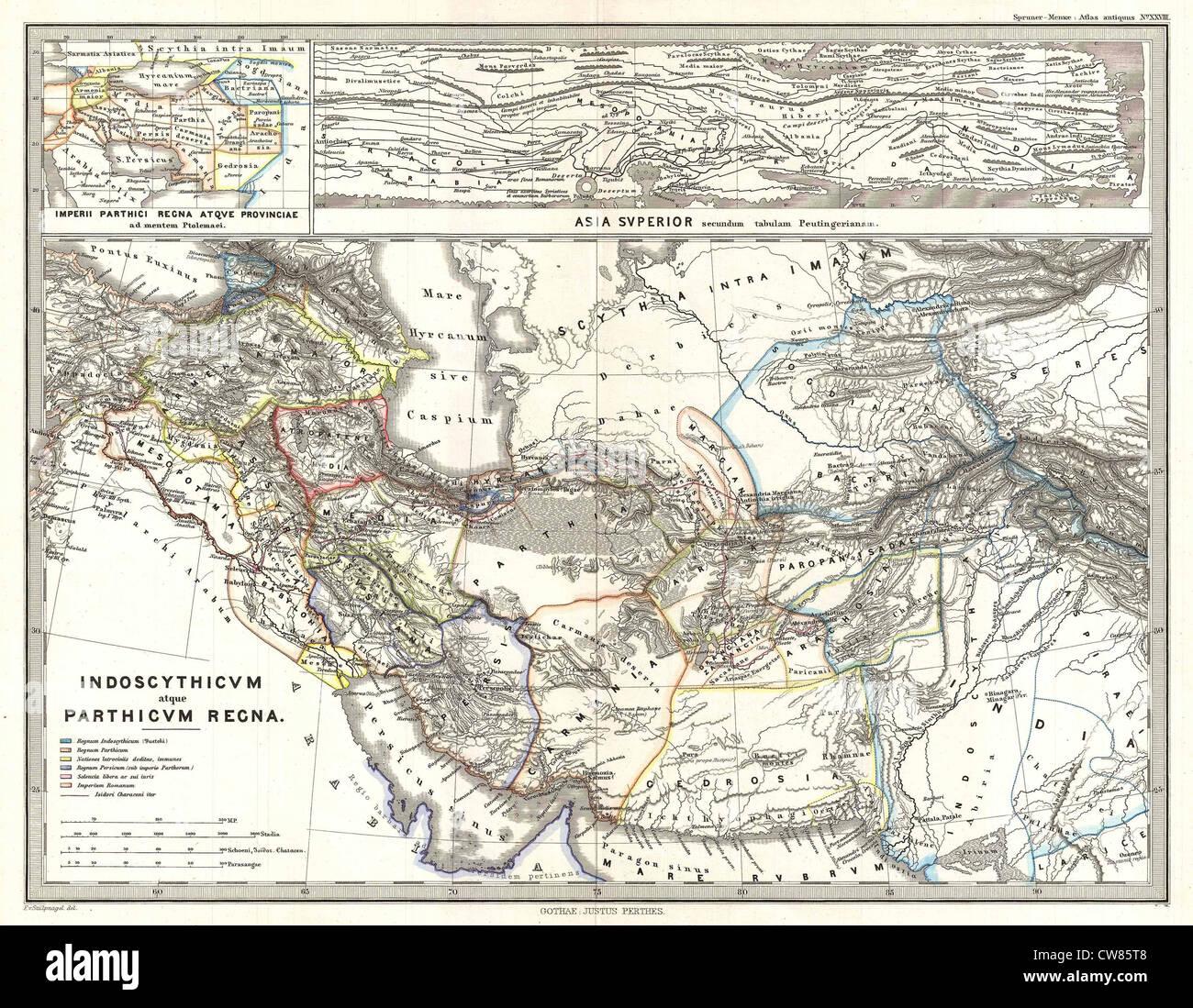 1865 Spruner Site de Perse dans l'Antiquité Photo Stock