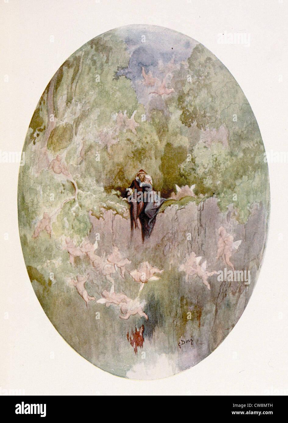 DORE, peinture fantastique sans titre Photo Stock