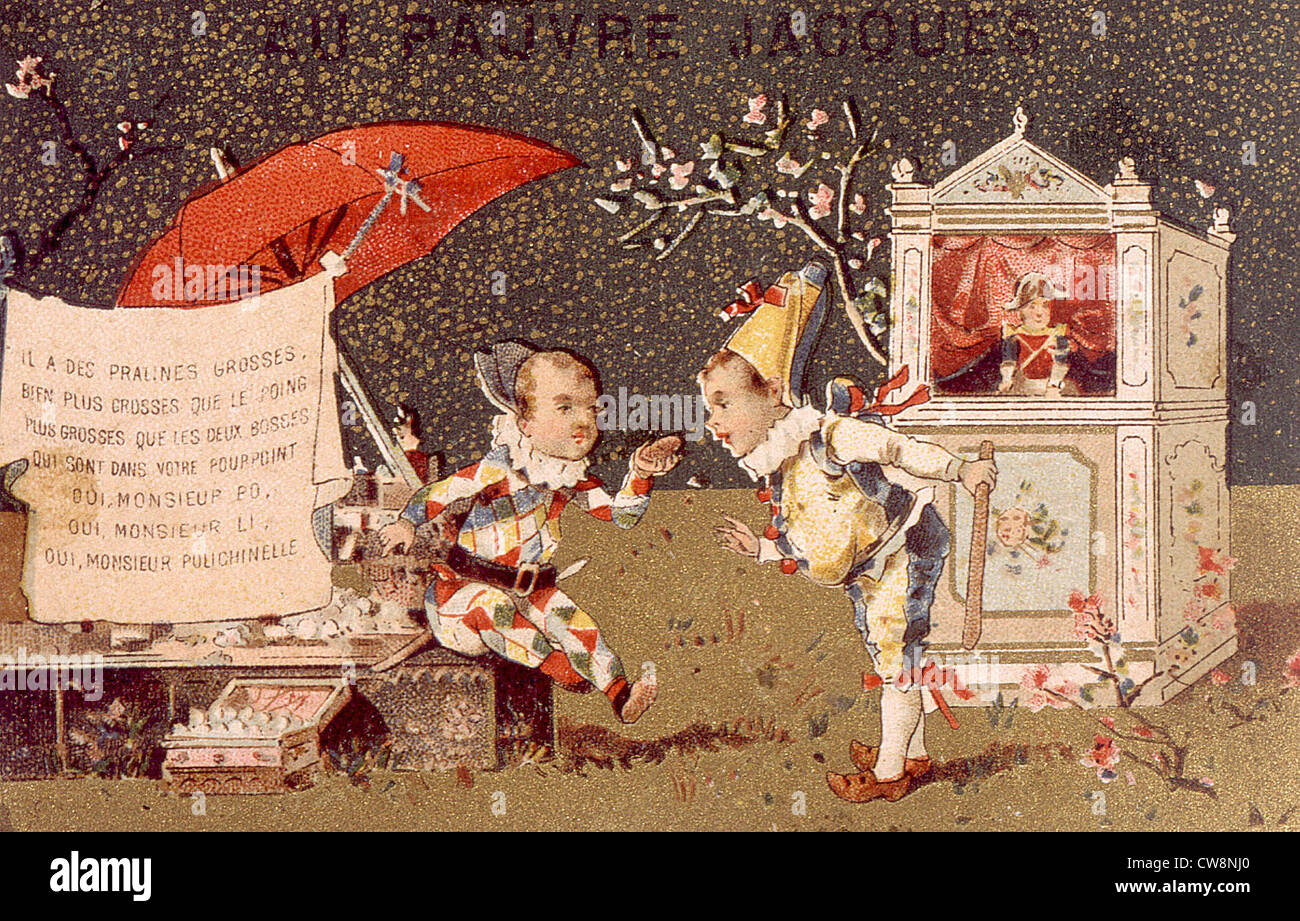 Guignol et Polichinelle, illustrations Photo Stock