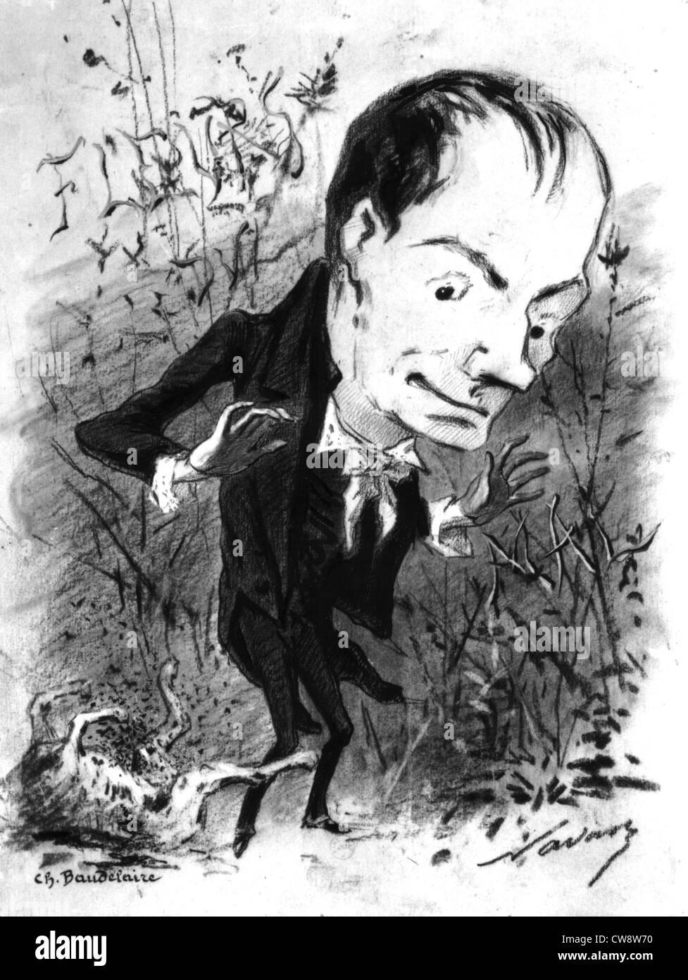 """Charles Baudelaire et 'Les fleurs du mal"""" Photo Stock"""