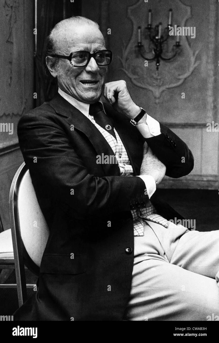 Aldo Gucci. ca. fin des années 1970. Avec la permission de: Archives CSU/Everett Collection. Photo Stock