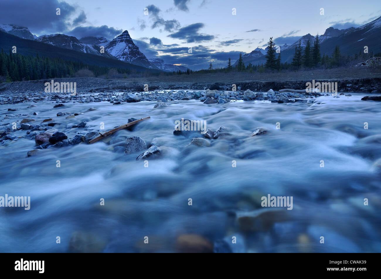 Silverhorn Creek, Banff National Park, Alberta, Canada Photo Stock