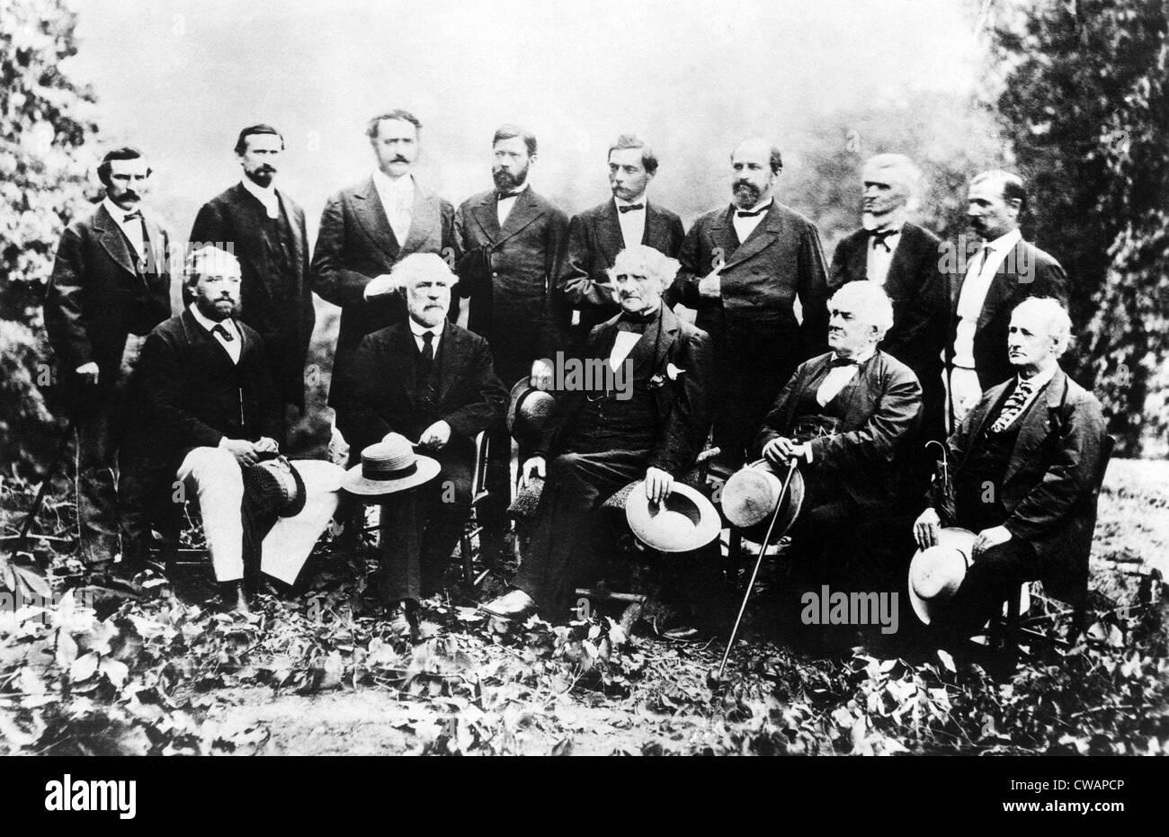 Union européenne et les dirigeants de la Confédération, du L-R: les généraux John Photo Stock