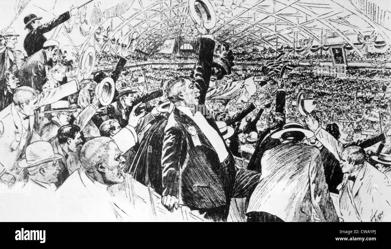 La convention nationale du Parti Républicain désigne le président Theodore Roosevelt comme son candidat Photo Stock