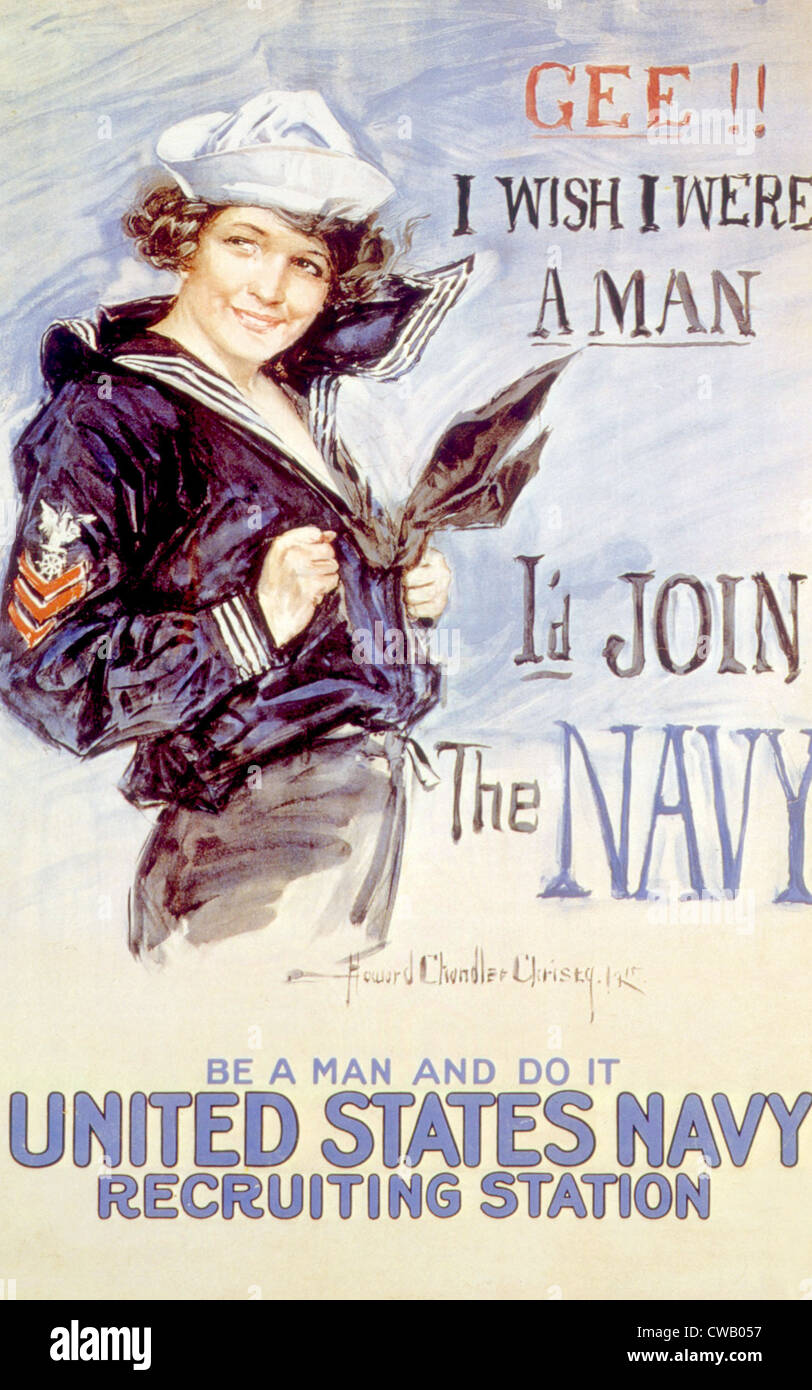 La Première Guerre mondiale American recuiting poster par Howard Chandler Christy, 1917 Photo Stock