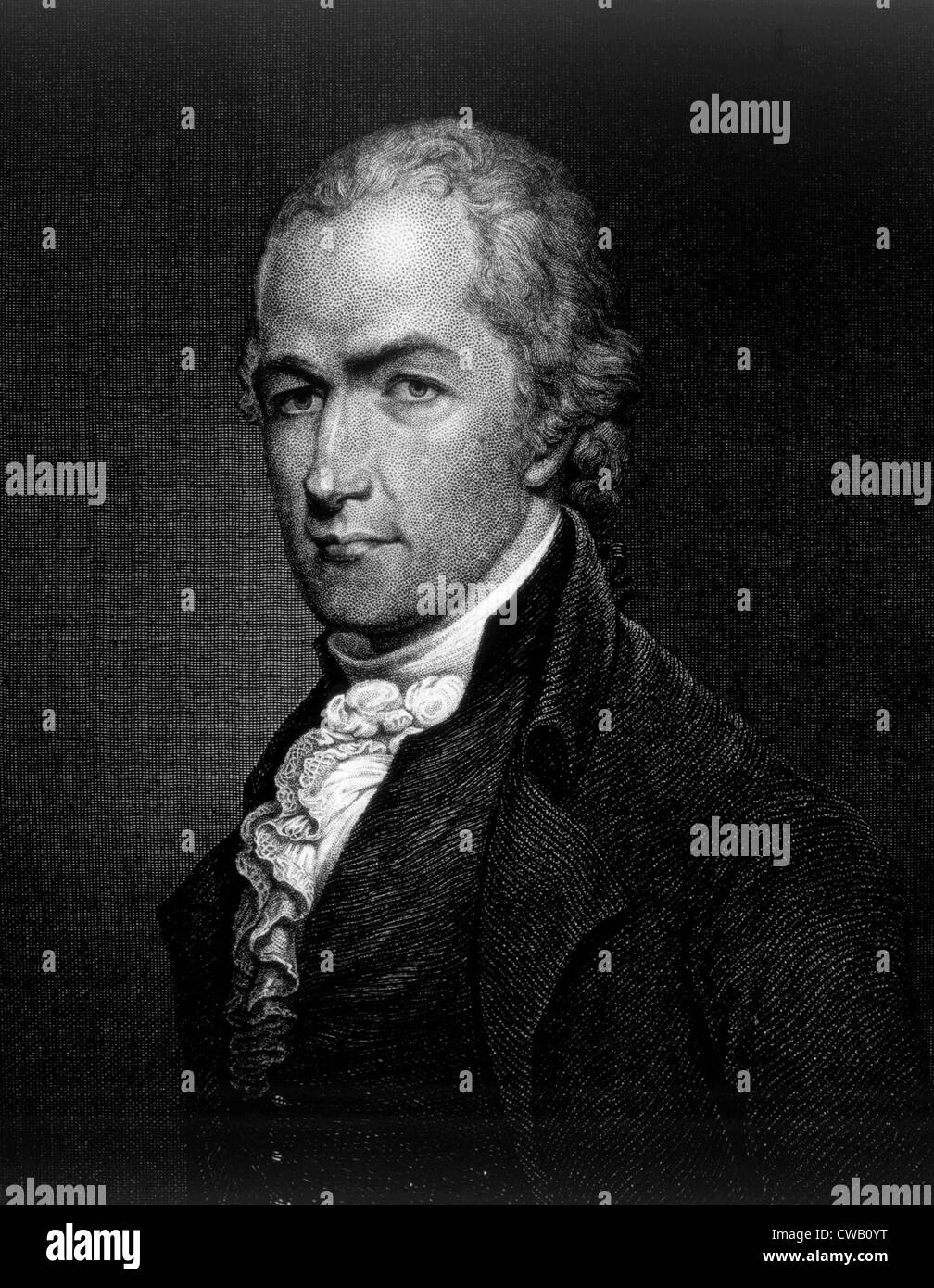 Alexander Hamilton (1755-1804), gravure 1859 Photo Stock