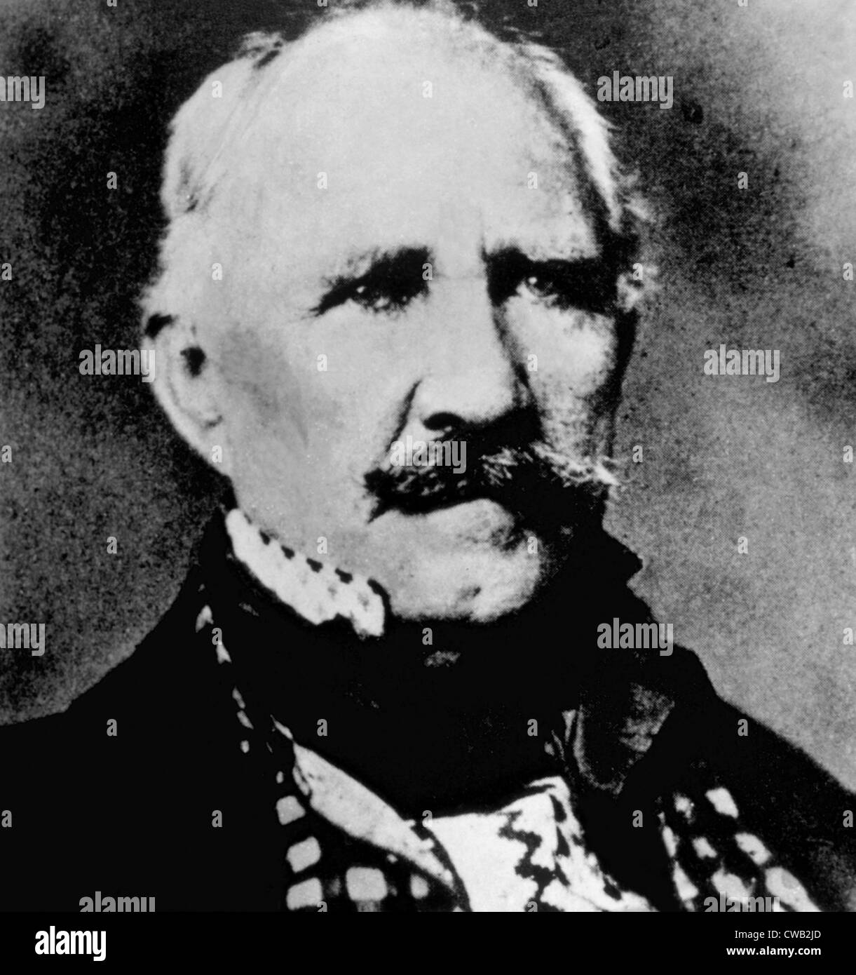 Le général Sam Houston (1793-1863), photo de Mathew Brady Photo Stock