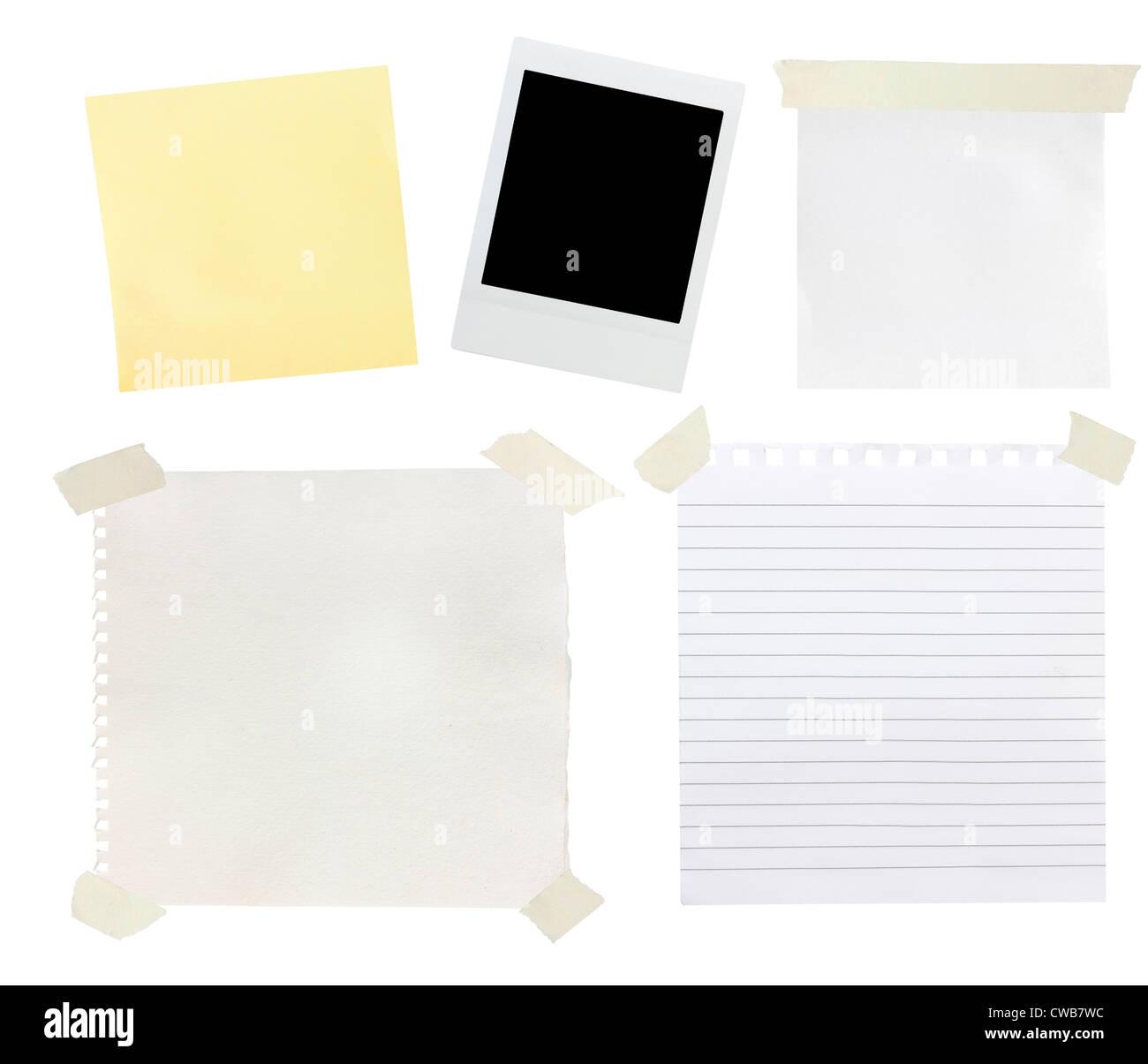 Éléments de scrapbooking tourné sur un fond blanc Photo Stock