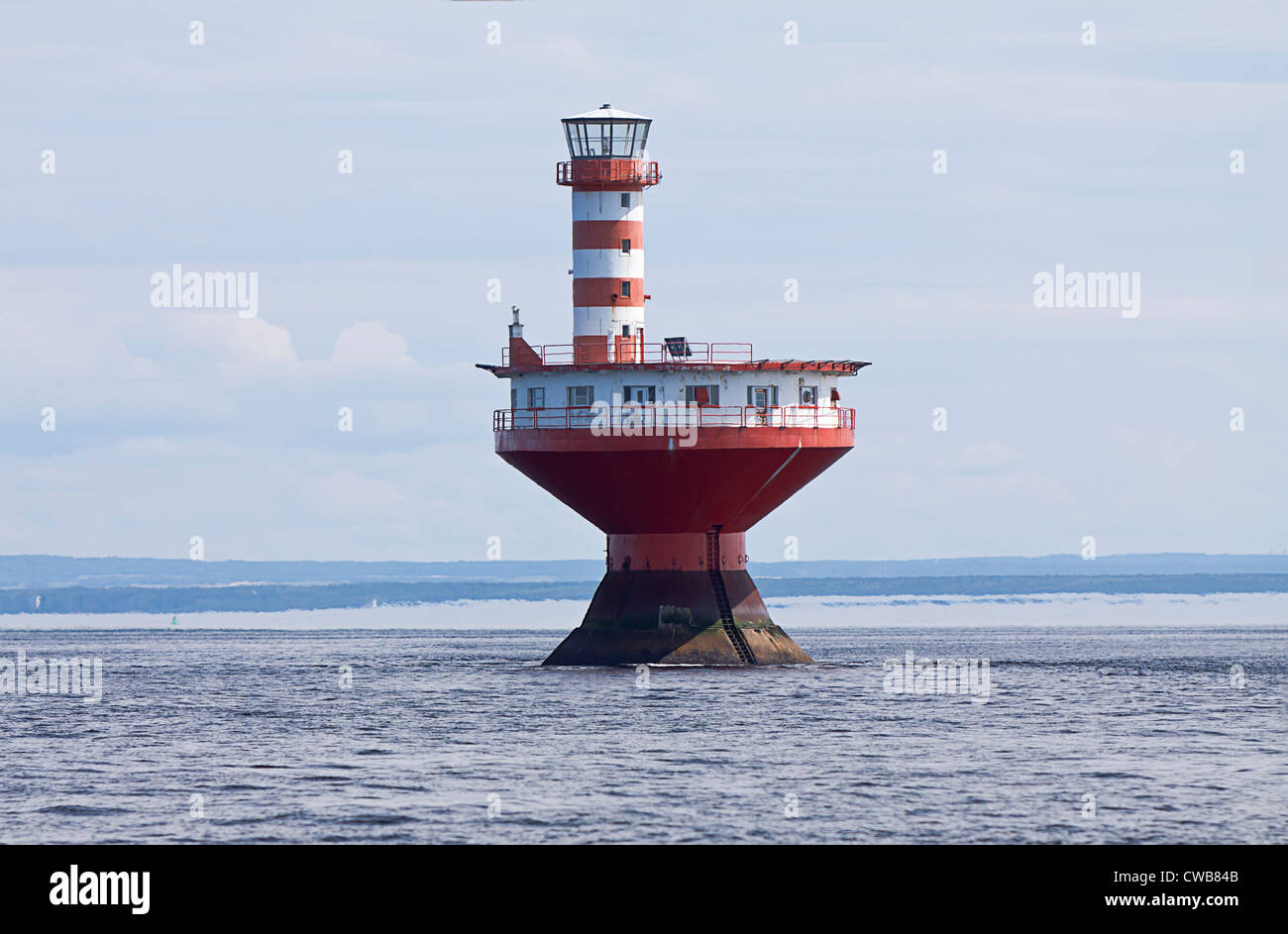 Le phare du haut-fond Prince, haut-fond Prince Light Tadoussac, Québec, Canada Photo Stock