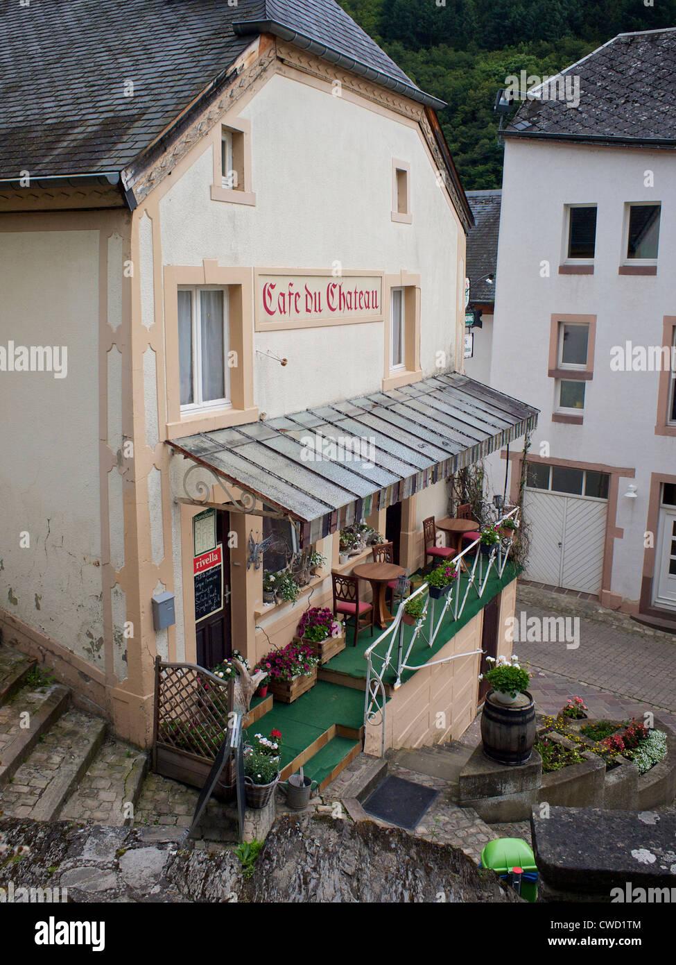 Village calme cafe à Esch sur sure Luxembourg Photo Stock