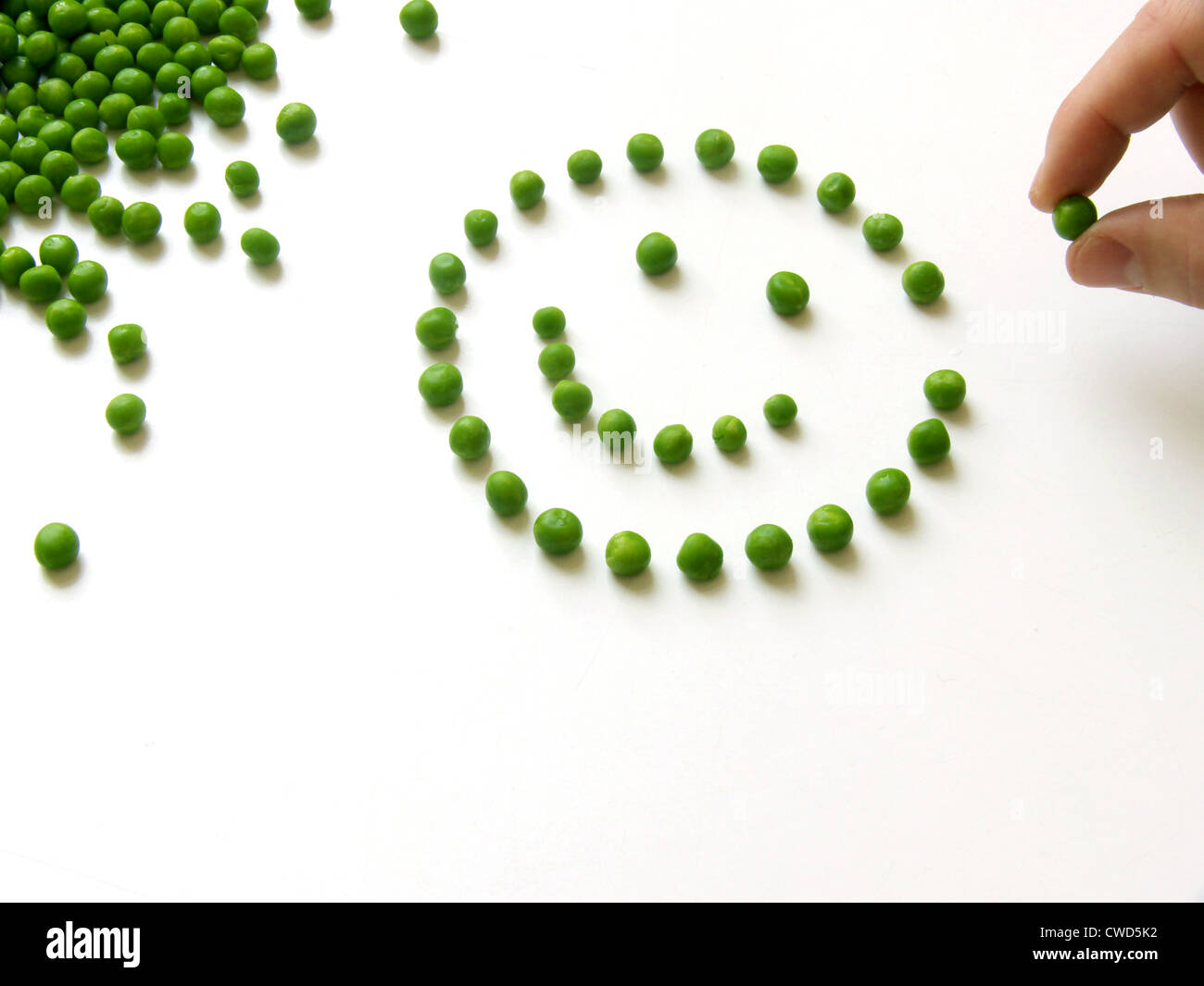 Smiley,famille des pois Photo Stock