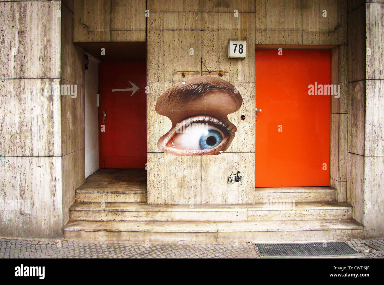oeil, art de rue Photo Stock