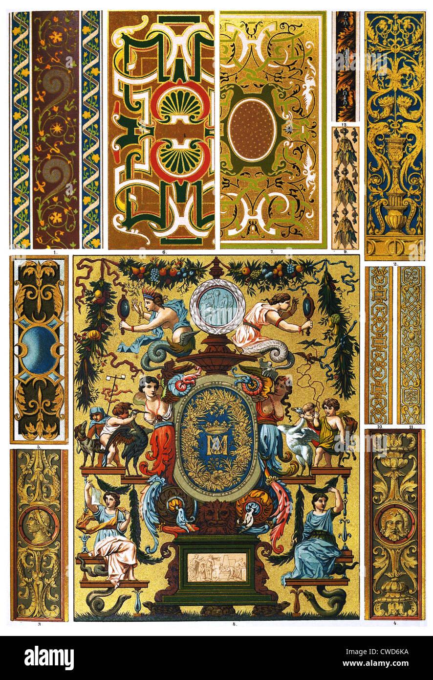 Peinture Murale Sculpture Française Renaissance Peint Couvertures De