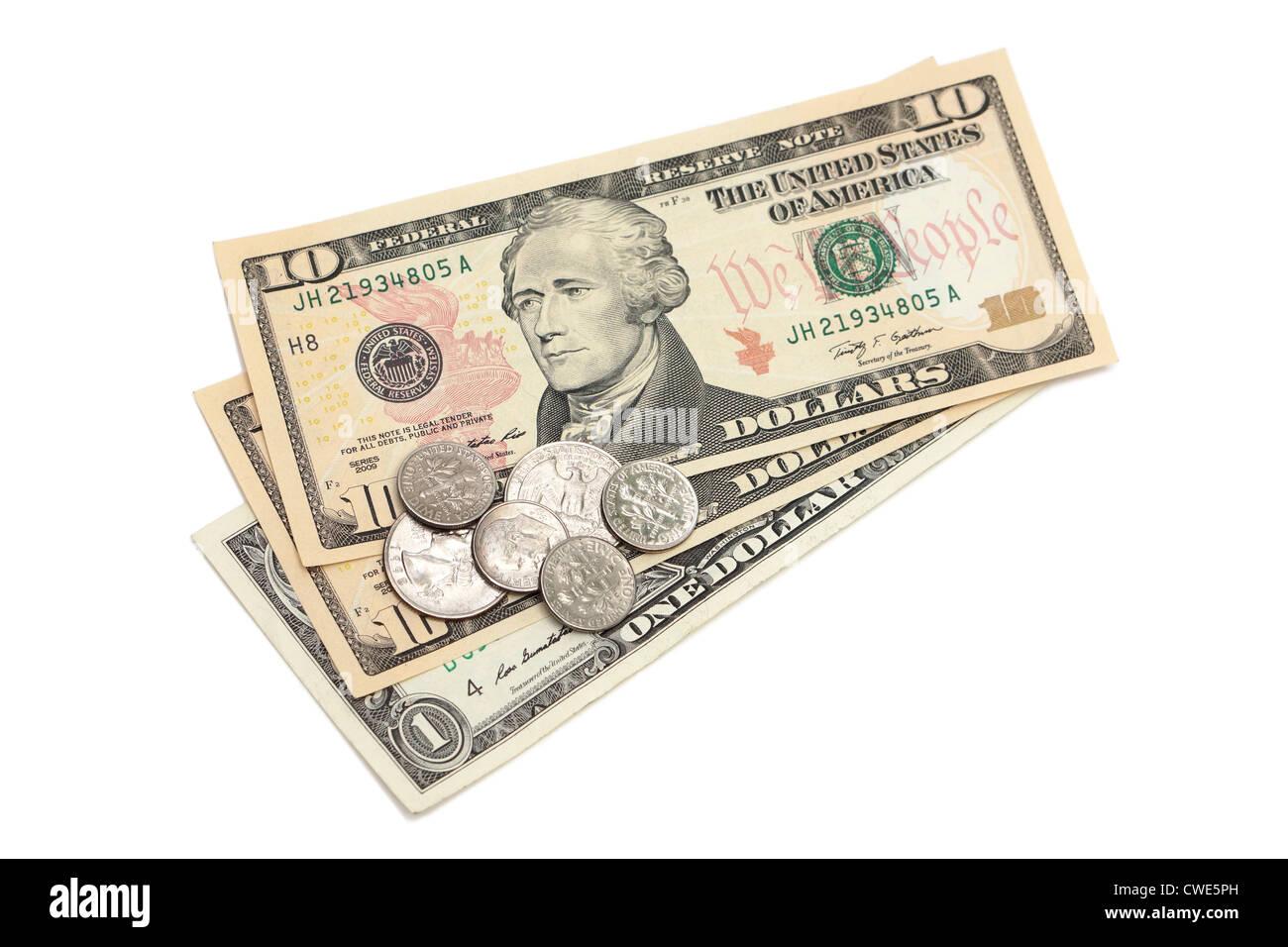 Billets d'un dollar US, monnaie, billets de banque Photo Stock