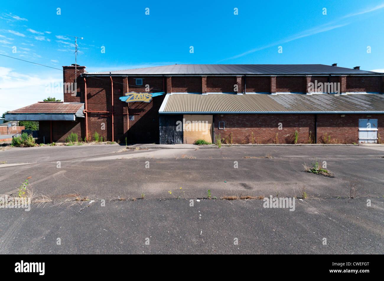 L'ancien cinéma pilote à King's Lynn, maintenant fermé et en attente de réaménagement. Photo Stock