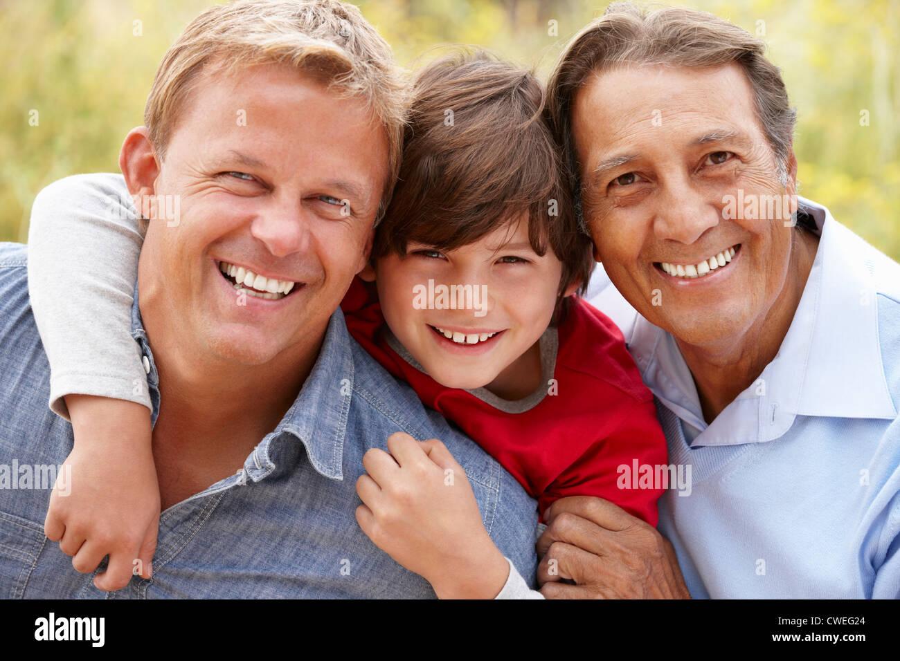 Générations hommes hispaniques Photo Stock