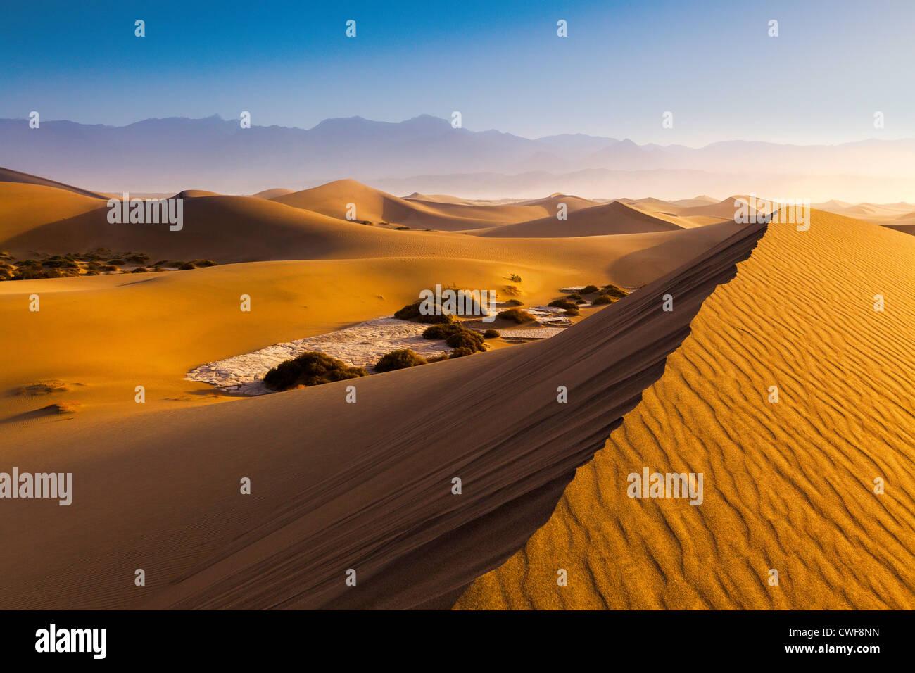 Mesquite Dunes, la vallée de la mort Banque D'Images
