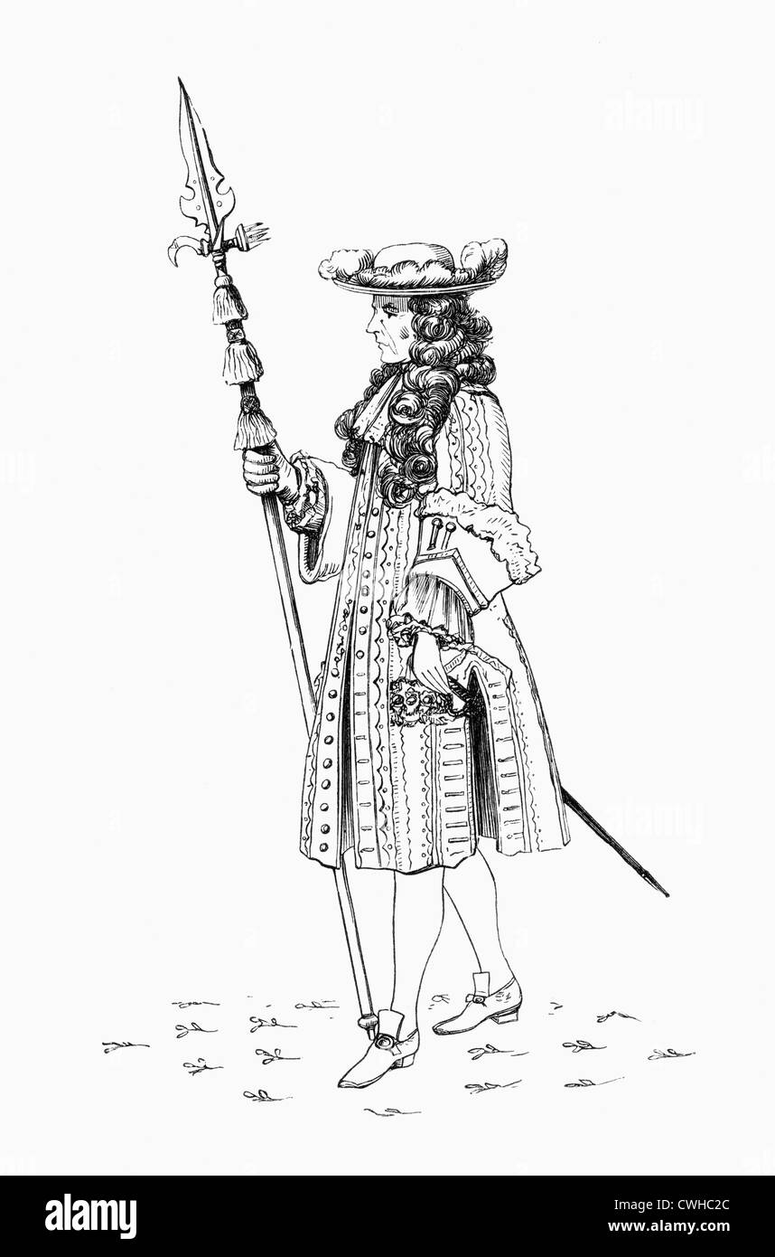 Un monsieur pensionné, aka l'Honorable Bande de collègues retraités, 1687. Garde du corps au Photo Stock