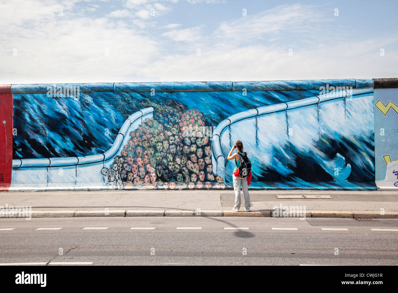 East Side Gallery, Berlin, Allemagne Photo Stock