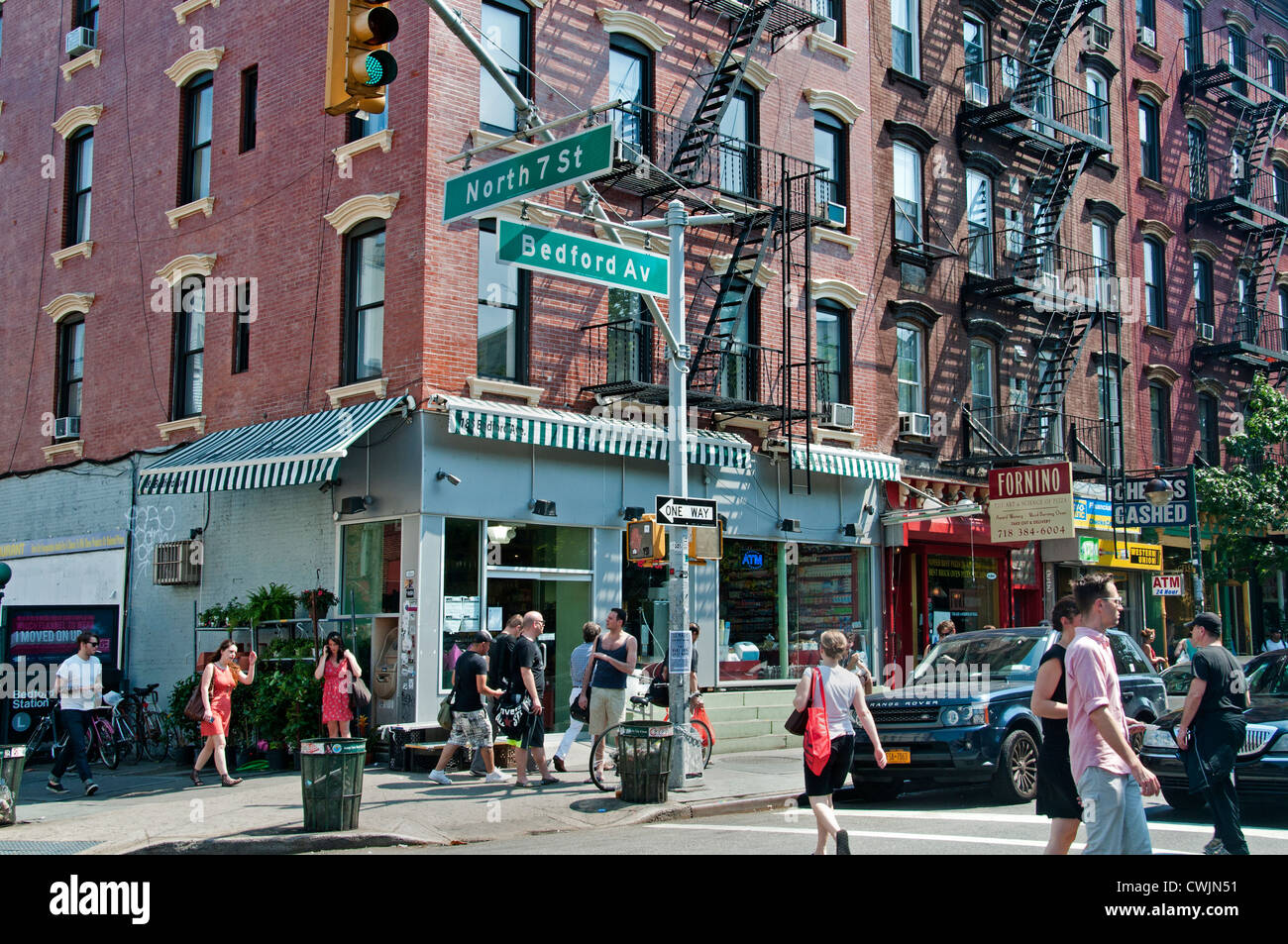 Bedford Avenue Williamsburg Brooklyn New York United States of America Photo Stock