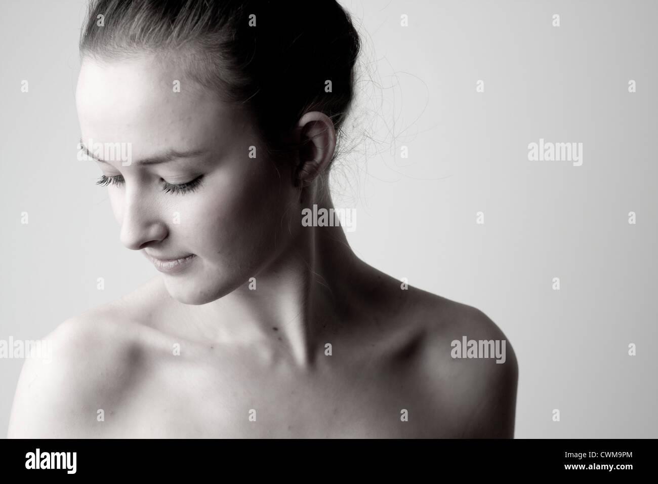 portrait nue Banque D'Images
