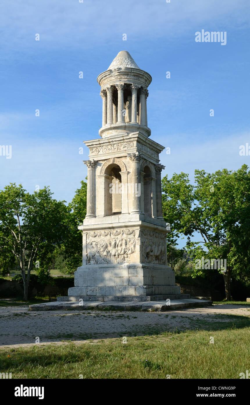 Le Mausolée romain de Julii Les Antiquités Glanum Saint-Rémy-de-Provence France Photo Stock